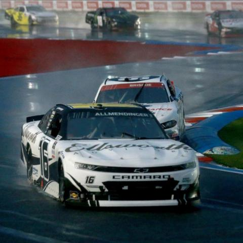 A.J. Allmendinger (16) is one of the favorites to win the Pit Boss 250 this weekend at Circuit of The Americas come rain or shine. Allmendinger won a rain-plagued Xfinity Playoff race at the ROVAL™ last year, which featured a wild finish in the damp conditions. If there is rain this weekend at COTA Goodyear will provide the teams with wet-weather tires so the action can stay on schedule.