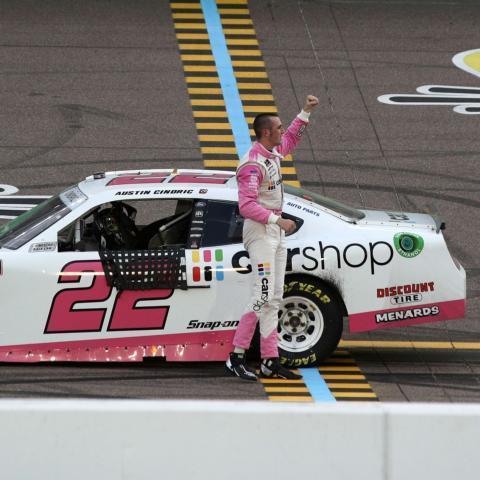 Reigning NASCAR Xfinity Series champion Austin Cindric