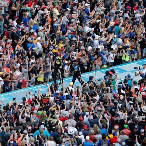 Fans at Daytona International Speedway