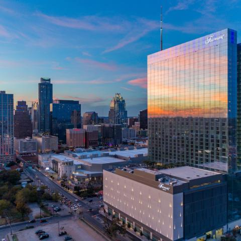 Fairmont Austin is the Official Hotel of the EchoPark Automotive Texas Grand Prix for the inaugural NASCAR race weekend at the world-renowned Circuit of The Americas in Austin, Texas. Fairmont Austin is a landmark hotel situated in the heart of the vibrant downtown Austin area.