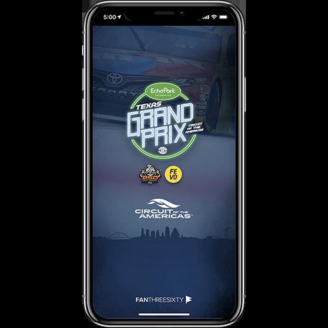 NASCAR at COTA Mobile App Home
