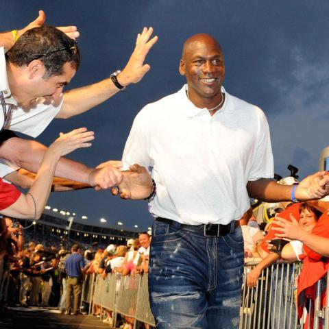 Michael Jordan, co-owner of 23XI Racing