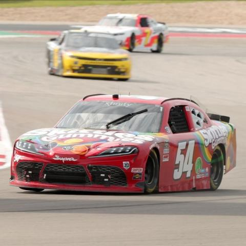Kyle Busch scored the Pit Boss 250 NASCAR Xfinity Series victory Saturday at the challenging Circuit of The Americas road course near Austin, Texas. The win was Busch's 98th career victory in the NASCAR Xfinity Series.