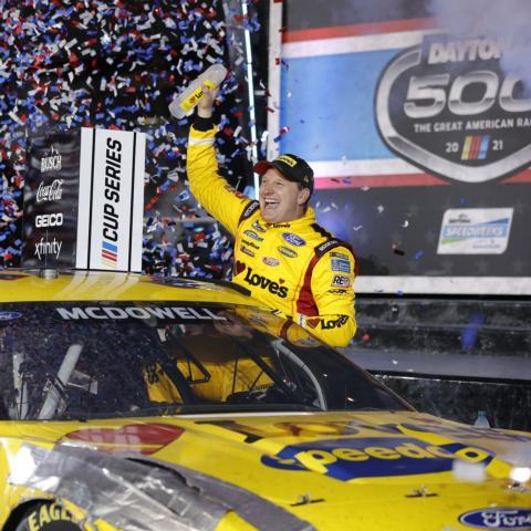 Michael McDowell wins the 2021 Daytona 500