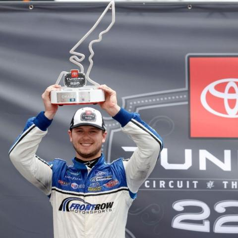 Todd Gilliland earned his second career NASCAR Camping World Truck Series race by taking the checkered flag nearly eight seconds ahead of his closest challenger Saturday at the Toyota Tundra 225 at Circuit of The Americas.