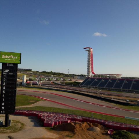 More than 13,000 tires were used on the property to create safety packs all along the 3.41-mile, 20-turn COTA road course.